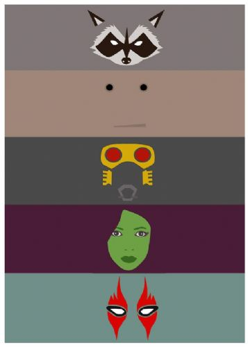 2010's Movie - GUARDIAN OF THE GALAXY MINIMALIST / canvas print - self adhesive poster - photo print